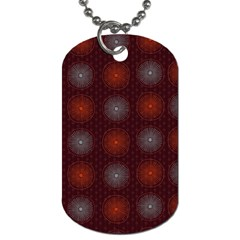 Abstract Dotted Pattern Elegant Background Dog Tag (two Sides)