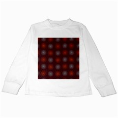 Abstract Dotted Pattern Elegant Background Kids Long Sleeve T Shirts
