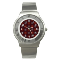 Abstract Dotted Pattern Elegant Background Stainless Steel Watch