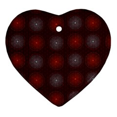 Abstract Dotted Pattern Elegant Background Heart Ornament (two Sides)