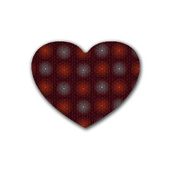 Abstract Dotted Pattern Elegant Background Heart Coaster (4 Pack)