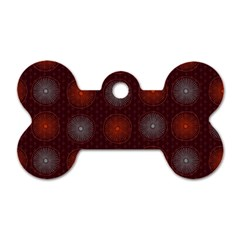 Abstract Dotted Pattern Elegant Background Dog Tag Bone (two Sides)
