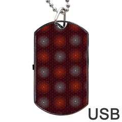Abstract Dotted Pattern Elegant Background Dog Tag USB Flash (Two Sides)
