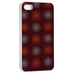 Abstract Dotted Pattern Elegant Background Apple Iphone 4/4s Seamless Case (white)
