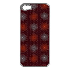 Abstract Dotted Pattern Elegant Background Apple iPhone 5 Case (Silver)