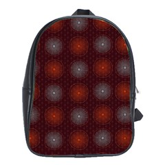 Abstract Dotted Pattern Elegant Background School Bags (XL)
