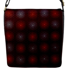 Abstract Dotted Pattern Elegant Background Flap Messenger Bag (s)