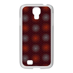 Abstract Dotted Pattern Elegant Background Samsung GALAXY S4 I9500/ I9505 Case (White)