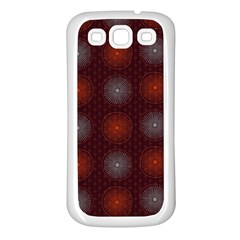 Abstract Dotted Pattern Elegant Background Samsung Galaxy S3 Back Case (White)