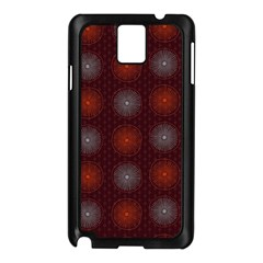 Abstract Dotted Pattern Elegant Background Samsung Galaxy Note 3 N9005 Case (Black)