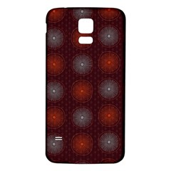 Abstract Dotted Pattern Elegant Background Samsung Galaxy S5 Back Case (White)