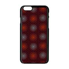 Abstract Dotted Pattern Elegant Background Apple iPhone 6/6S Black Enamel Case