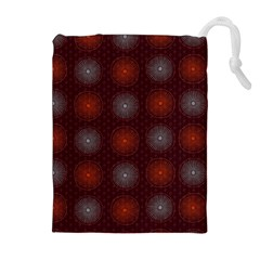 Abstract Dotted Pattern Elegant Background Drawstring Pouches (extra Large)