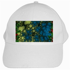 Holly Frame With Stone Fractal Background White Cap