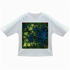 Holly Frame With Stone Fractal Background Infant/toddler T Shirts