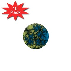 Holly Frame With Stone Fractal Background 1  Mini Magnet (10 Pack)