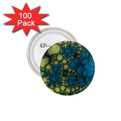 Holly Frame With Stone Fractal Background 1 75  Buttons (100 Pack)