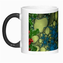 Holly Frame With Stone Fractal Background Morph Mugs