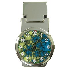 Holly Frame With Stone Fractal Background Money Clip Watches
