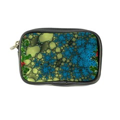 Holly Frame With Stone Fractal Background Coin Purse