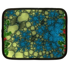Holly Frame With Stone Fractal Background Netbook Case (xl)