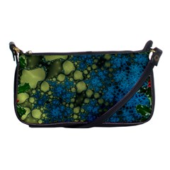 Holly Frame With Stone Fractal Background Shoulder Clutch Bags