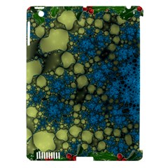 Holly Frame With Stone Fractal Background Apple Ipad 3/4 Hardshell Case (compatible With Smart Cover)
