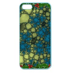 Holly Frame With Stone Fractal Background Apple Seamless iPhone 5 Case (Color)