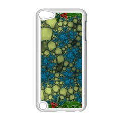 Holly Frame With Stone Fractal Background Apple Ipod Touch 5 Case (white)