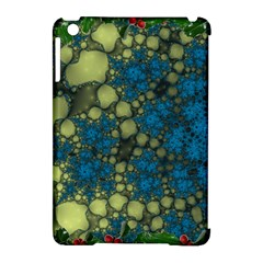 Holly Frame With Stone Fractal Background Apple iPad Mini Hardshell Case (Compatible with Smart Cover)