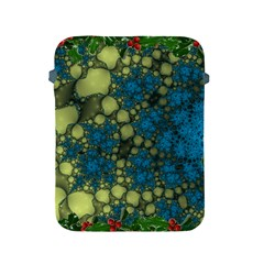 Holly Frame With Stone Fractal Background Apple iPad 2/3/4 Protective Soft Cases
