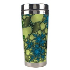 Holly Frame With Stone Fractal Background Stainless Steel Travel Tumblers