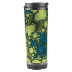 Holly Frame With Stone Fractal Background Travel Tumbler