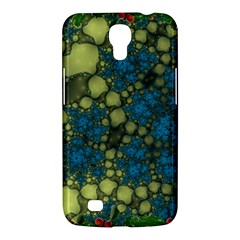 Holly Frame With Stone Fractal Background Samsung Galaxy Mega 6.3  I9200 Hardshell Case