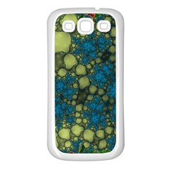 Holly Frame With Stone Fractal Background Samsung Galaxy S3 Back Case (white)