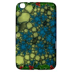 Holly Frame With Stone Fractal Background Samsung Galaxy Tab 3 (8 ) T3100 Hardshell Case