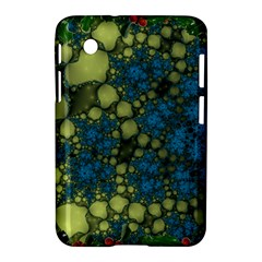 Holly Frame With Stone Fractal Background Samsung Galaxy Tab 2 (7 ) P3100 Hardshell Case