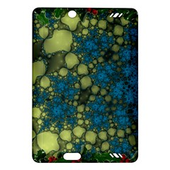 Holly Frame With Stone Fractal Background Amazon Kindle Fire HD (2013) Hardshell Case
