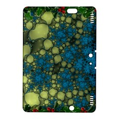 Holly Frame With Stone Fractal Background Kindle Fire HDX 8.9  Hardshell Case