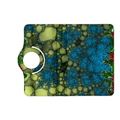 Holly Frame With Stone Fractal Background Kindle Fire HD (2013) Flip 360 Case