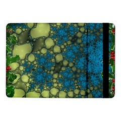 Holly Frame With Stone Fractal Background Samsung Galaxy Tab Pro 10.1  Flip Case