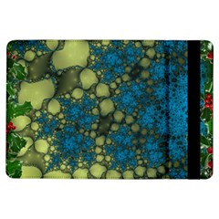 Holly Frame With Stone Fractal Background Ipad Air Flip