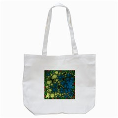 Holly Frame With Stone Fractal Background Tote Bag (White)