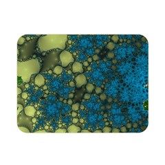 Holly Frame With Stone Fractal Background Double Sided Flano Blanket (Mini)