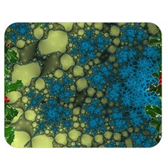 Holly Frame With Stone Fractal Background Double Sided Flano Blanket (medium)