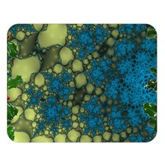Holly Frame With Stone Fractal Background Double Sided Flano Blanket (Large)
