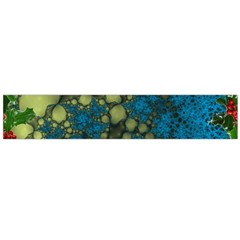 Holly Frame With Stone Fractal Background Flano Scarf (Large)