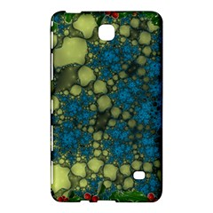 Holly Frame With Stone Fractal Background Samsung Galaxy Tab 4 (7 ) Hardshell Case