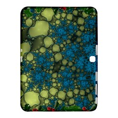 Holly Frame With Stone Fractal Background Samsung Galaxy Tab 4 (10 1 ) Hardshell Case