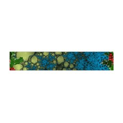 Holly Frame With Stone Fractal Background Flano Scarf (mini)